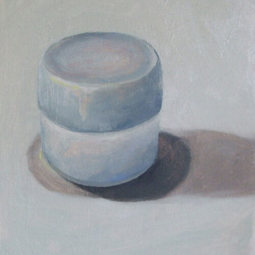 Blue lidded pot