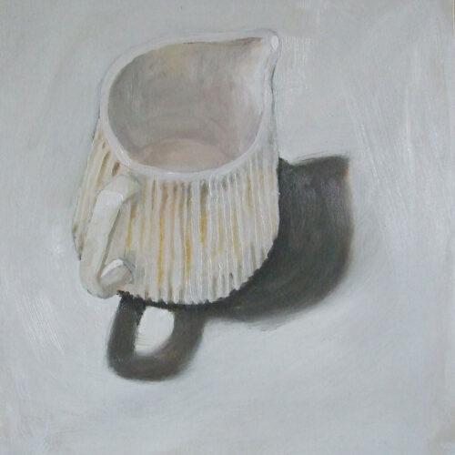 Yellow stripey jug
