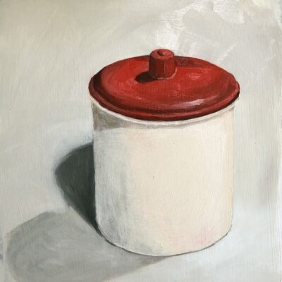 Red tea canister 2020